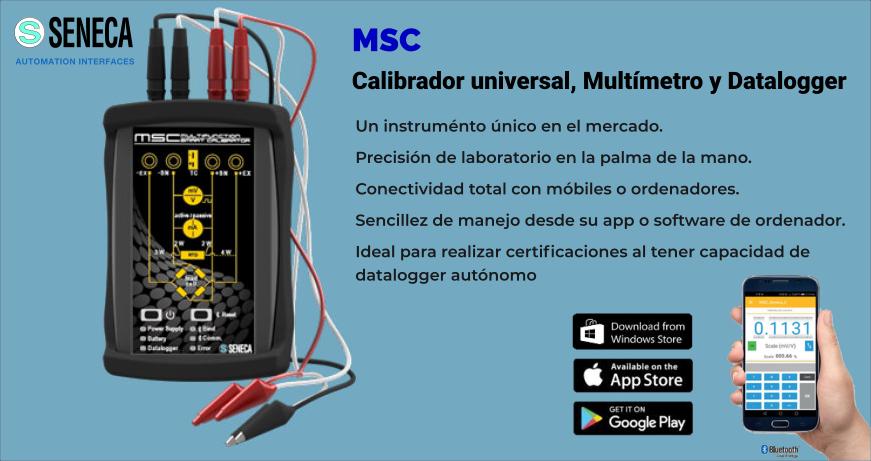 MSC Calibrador universal, Multímetro y Datalogger